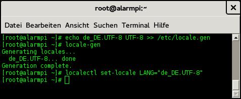 Spracheinstellung auf deutsch und UTF-8 setzen